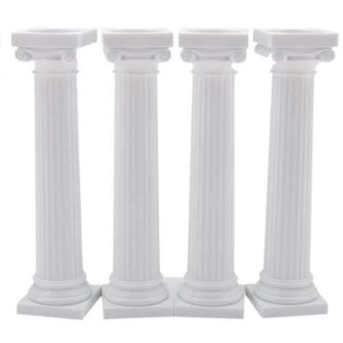 Wilton 303-3703 4-Pack Grecian Pillars for Cakes, 5-Inch