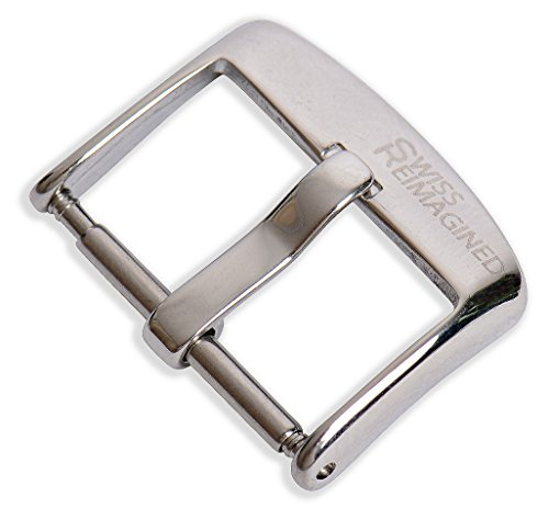 Swiss REIMAGINED Watch Band Buckle - Polished Stainless Steel - Classic Edition - 18mm