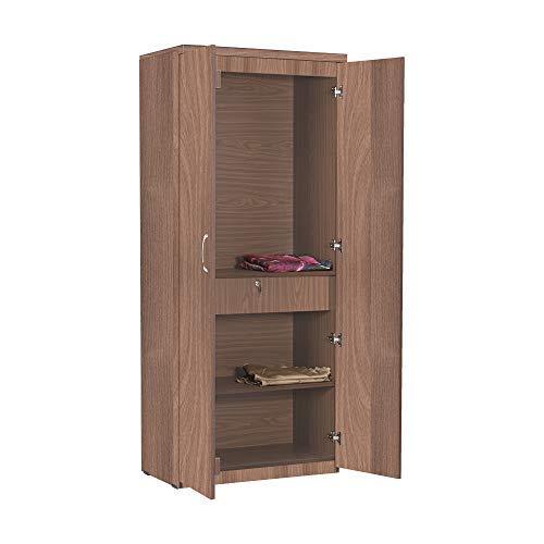 Atlanta Engineered Wood Two Door Wardrobe Acacia Dark