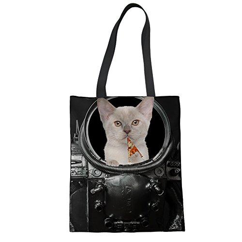 Storage Tiger della Kitchen Chaqlin spesa Heavy riutilizzabile Tote Duty borsa Puppy Cat organizer 1 g4q4w0p