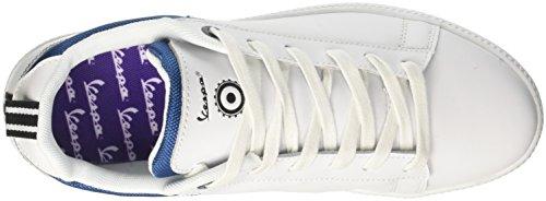Vespa Unisex-Erwachsene Festival Sneaker Blu (Bianco Blue)