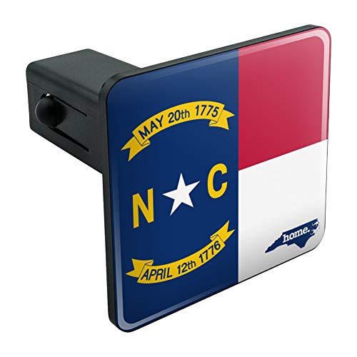North Carolina NC Home State Flag Officially Licensed Tow Trailer Hitch Cover Plug Insert 1 1/4 inch (1.25