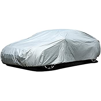 1pc OCPTY Universal Car Cover 189.2 Length fit for All Cars Polyester Full Auto Cover Durable Silver Grey