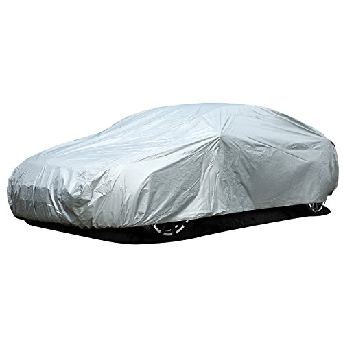 Ohuhu Car Covers for Sedan Outdoor, Sedan Auto Vehicle Cover Waterproof Windproof Dustproof Scratch Resistant Outdoor UV Protection Universal Full Size Car Covers for Sedan L (191''-201'')