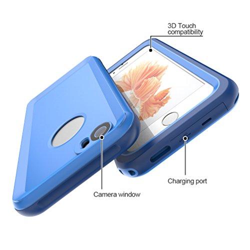 ALLCACA iPhone 6 / 6s funda impermeable con sellado completo protector a prueba de golpes con grado impermeable IP68