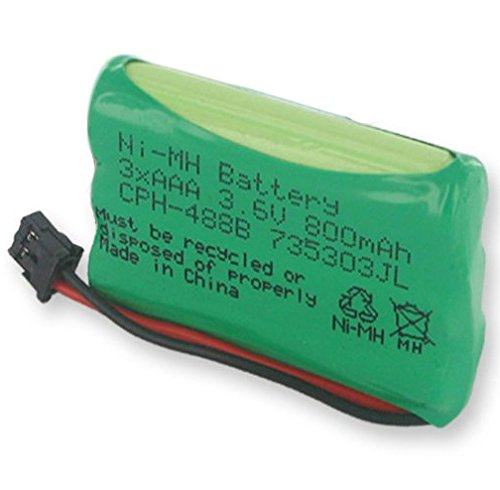 Radio Shack 43-141 Cordless Phone Battery 3.6 Volt, Ni-MH 800mAh - Replacement For UNIDEN BT-446
