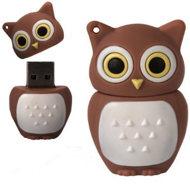 D-CLICK TM High Quality 4GB/8GB/16GB/32GB/64GB/Cool Shape USB High speed Flash Memory Stick Pen Drive Disk (32GB, Brown Owl)