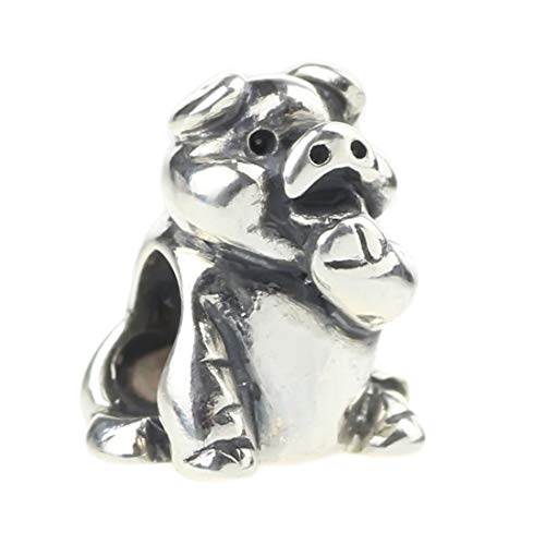 Beads Hunter Jewelry Authentic .925 Solid Sterling Genuine Silver Charm Happy Pig