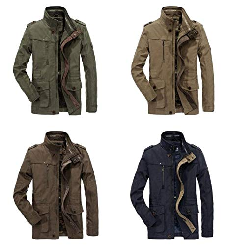 Hunting Longsleeve Cotton Multi Pocket 100 Khaki Jacket Outdoor Colors Outerwear Coat Apparel Men's Bomber Classic 4 TYSqRa