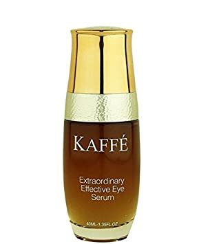 Kaffe Skincare – All Natural Extraordinary Effective Eye Serum Infused with Organic Kona Coffee – Helps Reduce Signs of Puffiness, Dark Circles, aging, and Crow s Feet.