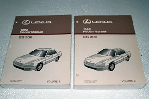 1992 lexus es300 factory repair manuals 2 volume set toyota motor rh amazon com 1992 lexus es300 owners manual 1993 lexus es300 repair manual