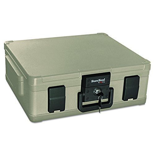 - SureSeal by FireKing SS104-A 1 Hour Fireproof Waterproof Safe Chest, Fits Legal/Letter Sized Documents,0.38 CU FT Storage Capacity