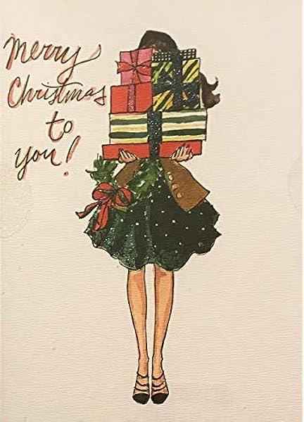 Cute Luxury Christmas Cards Nan /& Grandad Glittered Flitter Finish