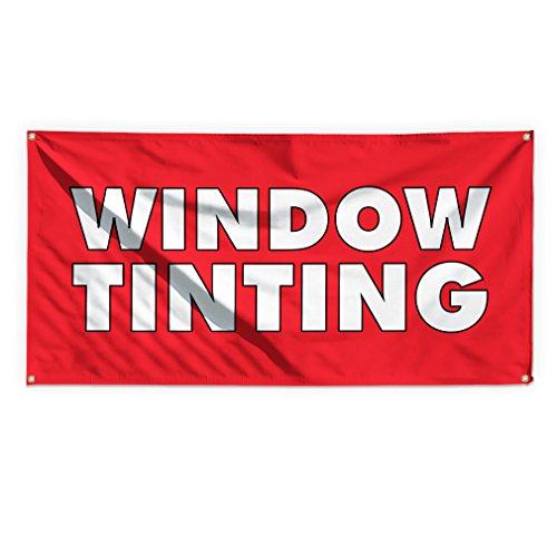 Window Tinting #1 Outdoor Advertising Printing Vinyl Banner Sign With Grommets - 2ftx3ft, 4 Grommets