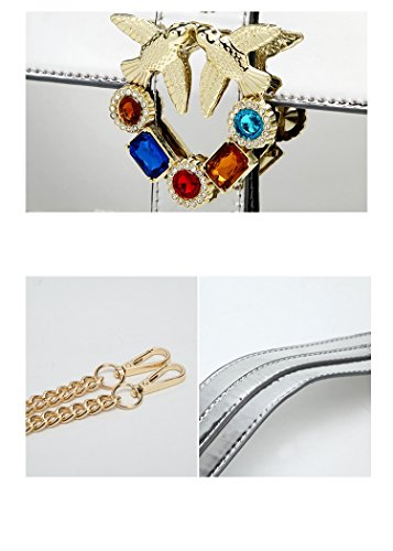 sacs tout pour fourre à de des Bag Purple avec main à les bandoulière Corps Designer glamour Sac sac Messenger femmes diamants bandoulière 6w8qgYt