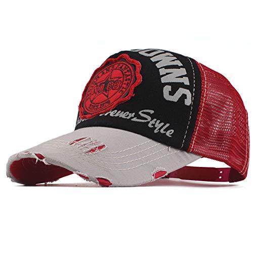 女性メッシュ 野球帽 男性 夏 帽子,シアン,56TO59CM