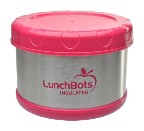 LunchBots Thermal 16 oz. All Stainless Steel Interior - Insulated Food Container Stays Warm for  up to 5 Hours or Cold for 10 Hours - Leak Proof Soup Jar for Portable Convenience - Pink