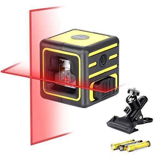 Nivel láser Firecore para colgar cuadros, línea láser cruzada autonivelante para construcción 212A