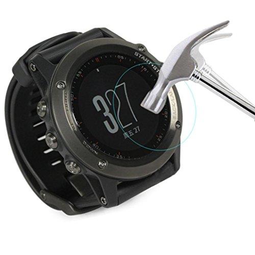 Hunputa Explosion-Proof Tempered Glass Film Protector for Garmin Fenix 3 Smart Watch - Fix Glasses Arm