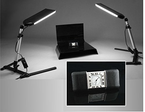 Set of 2 for Product Photography ALZO Small Riser Platform Kit Shooting Table Black and Clear