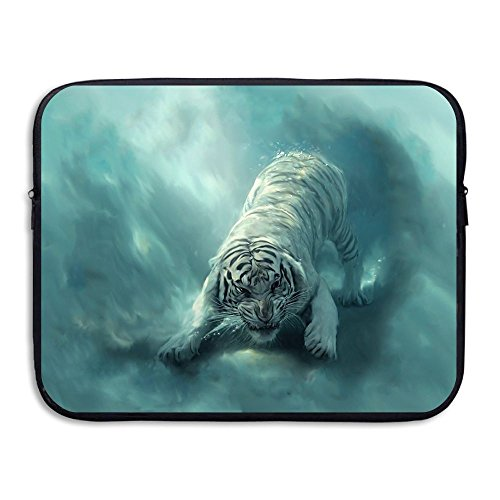Tigers Zipper Top Handbag (Business Briefcase Laptop Sleeve Amazing Tiger Case Cover Handbag For 15 Inch Macbook Air/Asus/Dell/Lenovo/Hp/Samsung/)