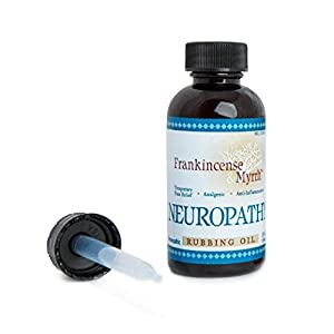Frankincense & Myrrh Neuropathy Rubbing Oil with Essential Oils for Pain Relief, 2 Fluid Ounces