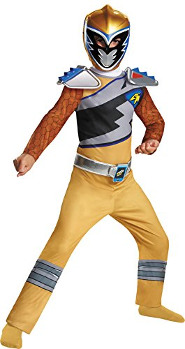 Gold Ranger Dino Charge Classic Outfit Funny Theme Child Halloween Costume, Child S (4-6)