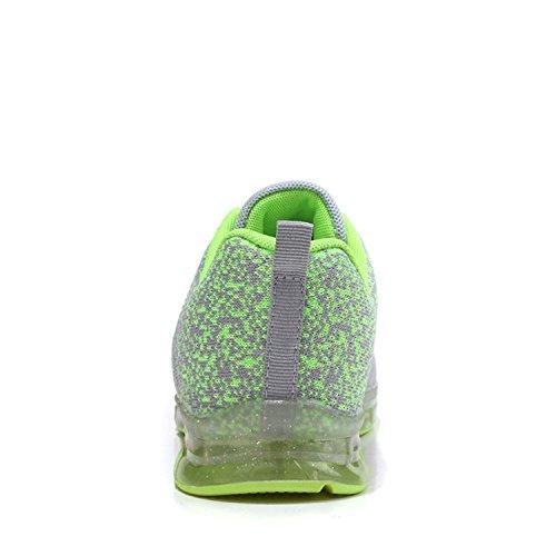 LILY999 Zapatillas de Deporte Running Fitness Casual Aire Libre Deportes Zapatos Para Correr Sneakers Para Mujer Verde