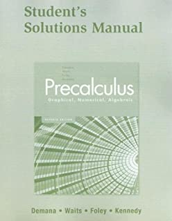 Precalculus graphical numerical algebraic franklin d demana student solutions manual for precalculus graphical numerical algebraic fandeluxe Image collections