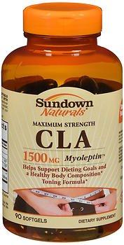 Sundown Naturals Maximum Strength CLA 1500 mg Dietary Supplement Softgels - 90 ct, Pack of 3