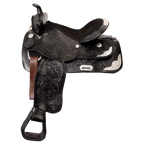 King Series Silver Show King II Saddle 15in Black