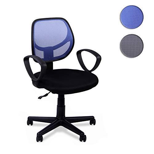 Adec - Student, Silla Escritorio giratoria, Silla Juvenil de Oficina,Color Azul, Medidas; 57 x 87-99 x 57 cm de Fondo