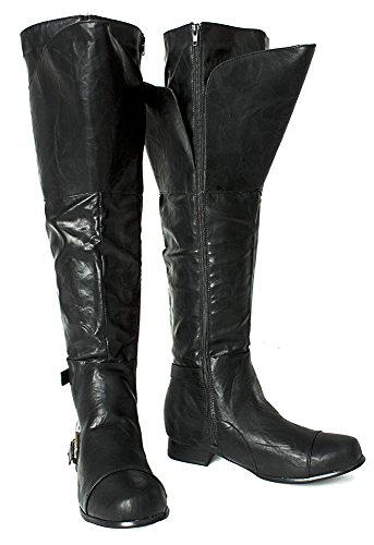 Assassin's Creed Final Fantasy Halloween Steampunk Western Medieval Cosplay Tall Men's Boots (Medium (Mens Renaissance Boots)