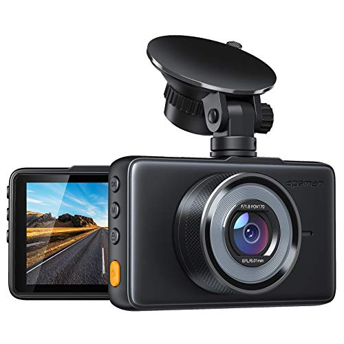 [2020 New Version] APEMAN Dash Cam 1080P FHD DVR Car Driving Recorder 3 Inch LCD Screen 170° Wide Angle, G-Sensor, WDR…