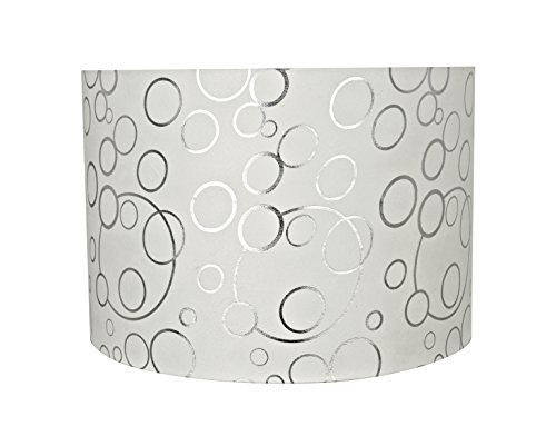 - Aspen Creative 31163 Transitional Drum (Cylinder) Shaped Spider Construction Lamp Shade in White, 16