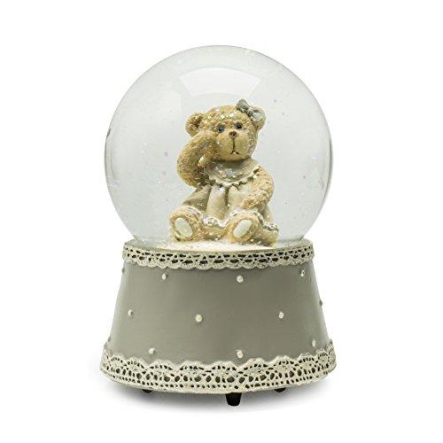 Girl Bear Figurine - Modali Baby Fine & Elegant Musical Snow Globe Water Ball with Female/Girl Bear
