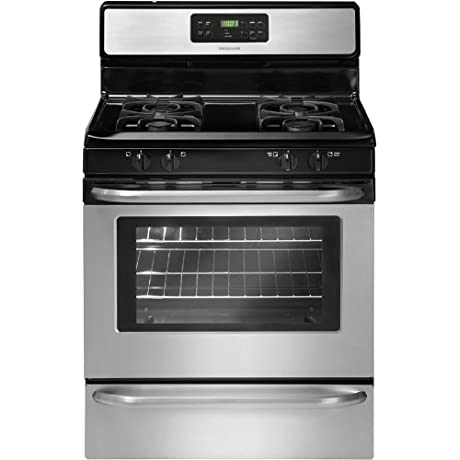 Frigidaire FFGF3053LS 30 Freestanding Gas Range With 4 Sealed Burners 5 0 Cu Ft Store More Storage Drawer Quick Coil Burner Low Simmer Burner And Ready Select Controls In Stainless