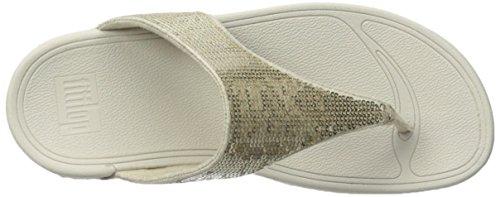 FitFlop Electra Classic Sequin Flip-Flop Sandal Pale Gold wvuNIzz