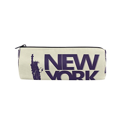 American Statue Of Liberty New York City Pencil Case Pen Bag Multi-Functional Stationery Pouch Zipper Bag by imobaby, Student Zip Pencil Holders Pouch Gift Travel Makeup Bag - T224