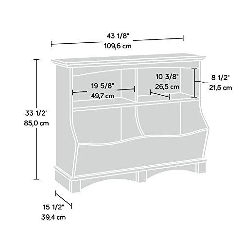 """41w9bj7gG8L - Sauder 420327 Harbor View Bin Bookcase, L: 43.15"""" x W: 15.51"""" x H: 33.47""""Salt Oak finish"""