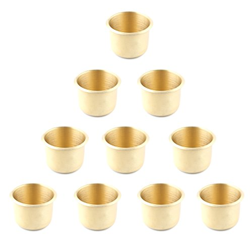 10 x Brass Poker Table Cup Holder Regular by IDS
