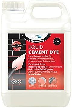 Bond It - Tinte líquido para hormigón, 1 litro, color negro