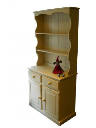 Wye Pine 3ft Welsh Painted Dresser - Complete - Colour: Cream