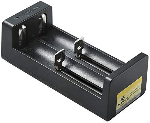 Xtar MC2 intellicharges CCCV Li-Ion Ladegerät (5 Volt, 1A, 2 Ladeschäte) für Formate 14500 bis 26650