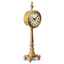 Pendulux Victoria Retro Vintage Table Clock, Decorative Bedside Table Clock