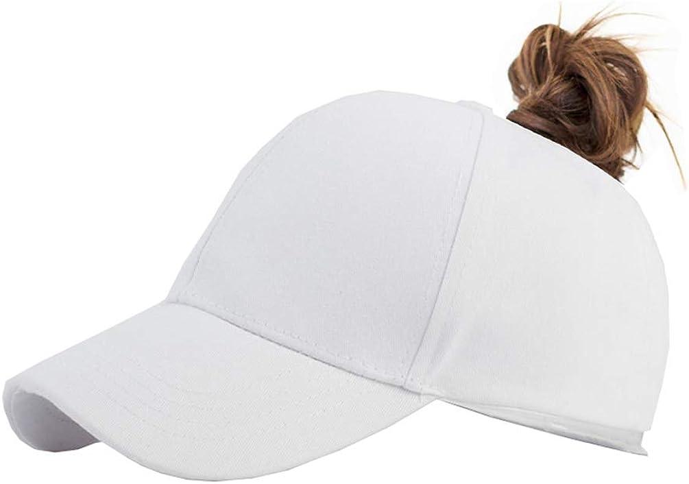 Sun Protection Ponycaps Retro Cap High Ponytail Baseball Hat Women Messy Bun Hat