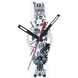 Maples Sales Large Moving-gear Wall Clock with Glass Cover