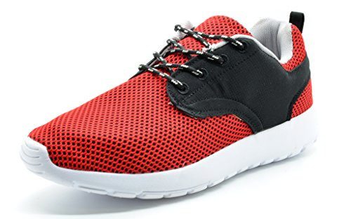 DREAM PAIRS 5003 Herren New Light Weight Go Leicht Walking Casual Sportlich Bequeme Laufschuhe Turnschuhe Runpro-rot / Schwarz