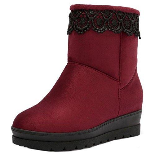 TAOFFEN Hidden Red Boots Women's Heel Shoes r11YwE