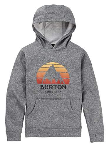 Burton Boys' Oak Pullover Hoodie, Monument Heather SS19, X-Small